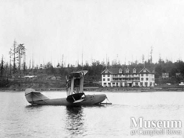 Campbell River waterfront with Boeing seaplane