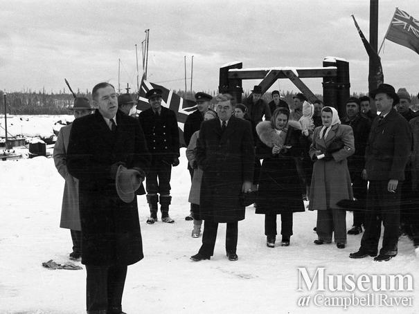 Opening of the new government wharf, Campbell River