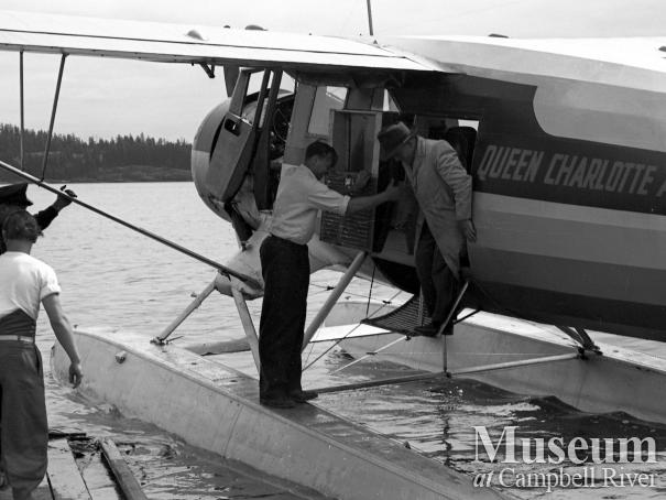 Queen Charlotte Airlines, the first landing in Campbell River