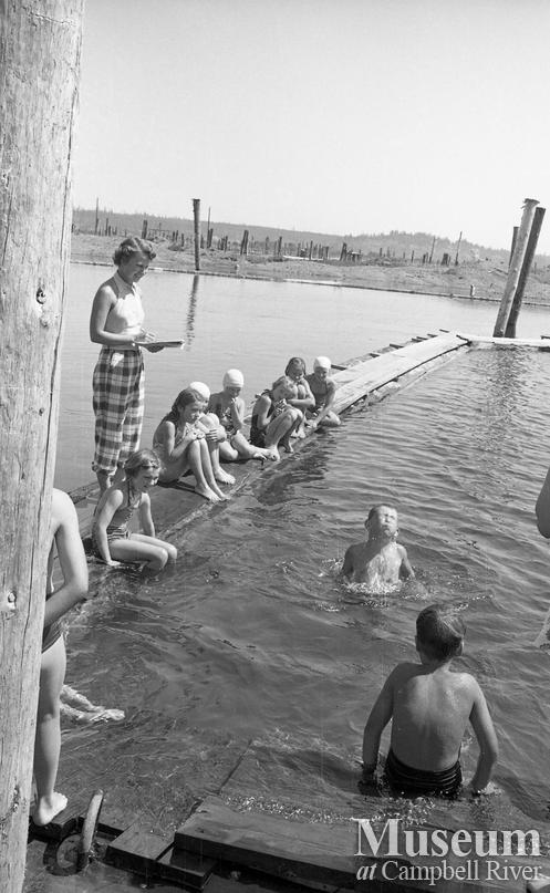 Swimming lessons at the Campbell River estuary