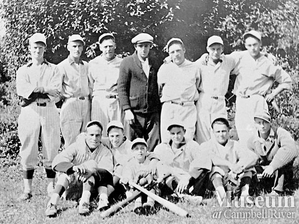 An early Campbell River men's baseball team