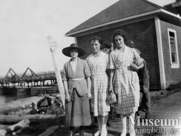 Group in front of Telegraph Office, Campbell River