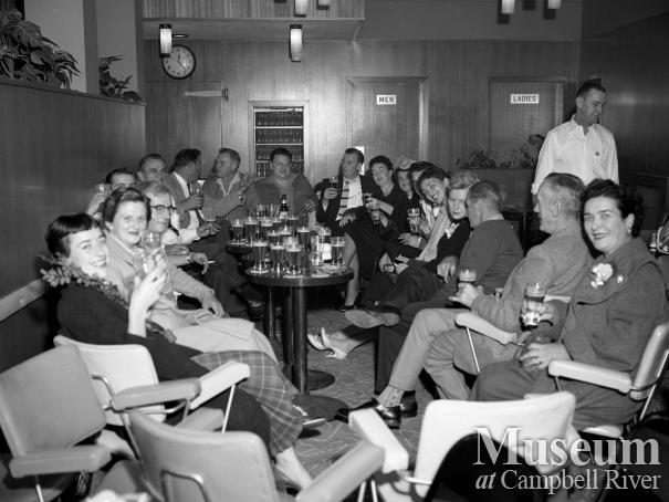 Interior of the bar at the Quinsam Hotel, Campbellton