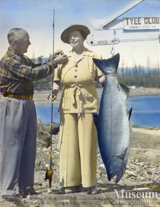 Mrs. Randall, Tyee Man, with her catch