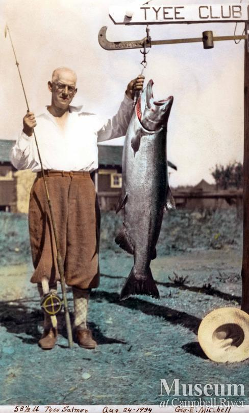 George E. Mitchell with his catch