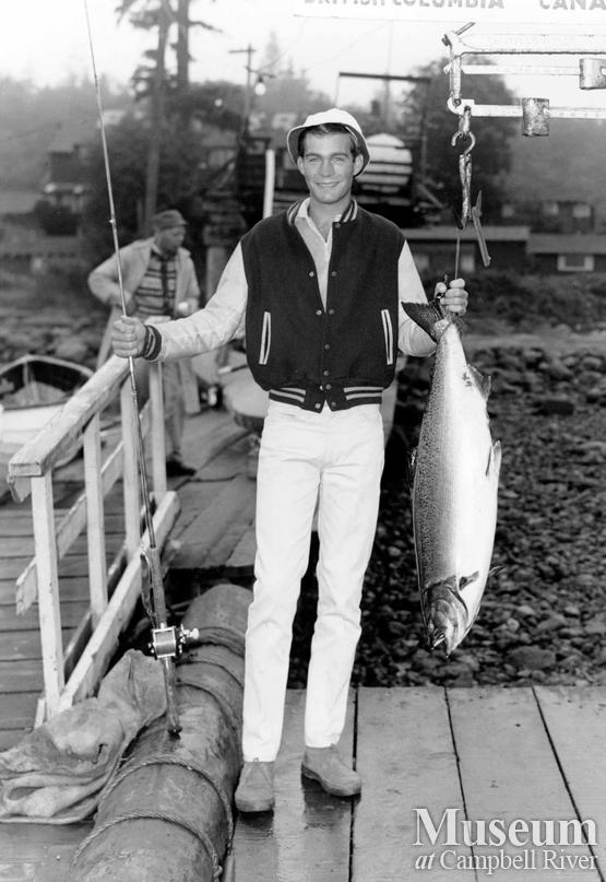 Matt Evans with catch