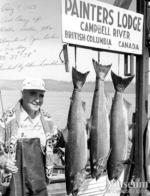 Art Carey with his catch of a rare Daily Triple