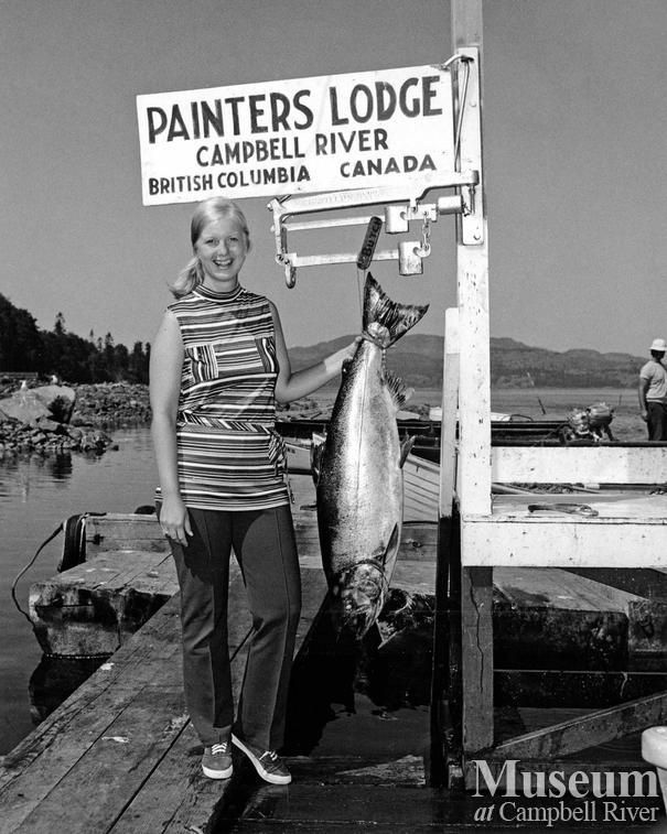 Lori Bertram with catch