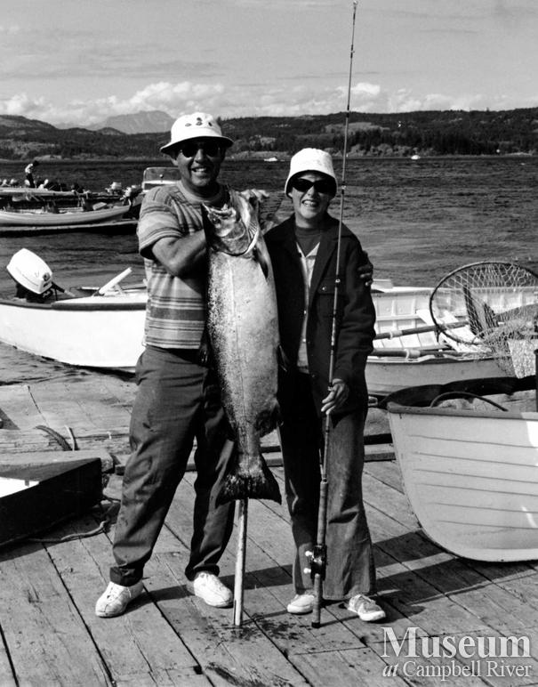 Bob Hammond with his daughter Wendy and their Tyee