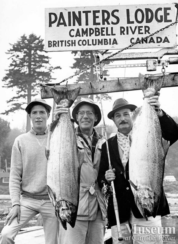 Guide Charley Lynch with two fisherman