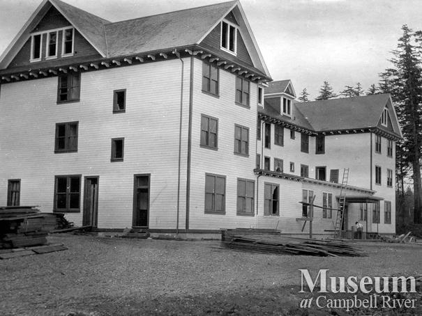 The third Willows Hotel under construction, Campbell River