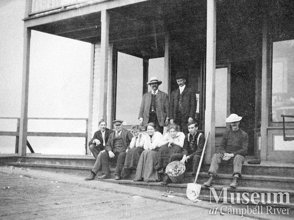 The front steps of the Campbell River Trading Co. store