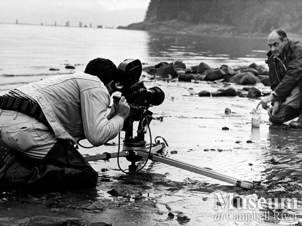 Roderick Haig-Brown Being Photographed on the beach