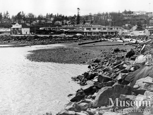 Campbell River beachfront in front of downtown Campbell River.