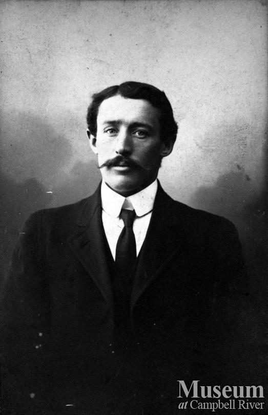 Portrait of Morris Petersen, an early settler of Campbell River