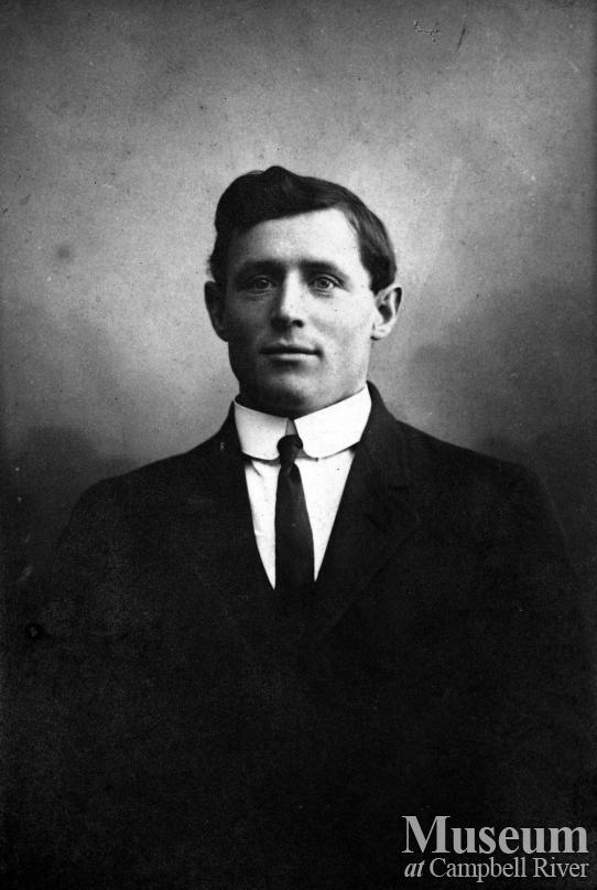 Portrait of Carl Petersen, an early settler of Campbell River