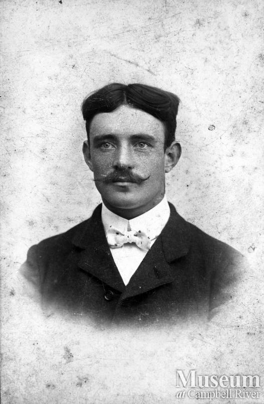 Portrait of Louis Petersen, an early settler of Campbell River