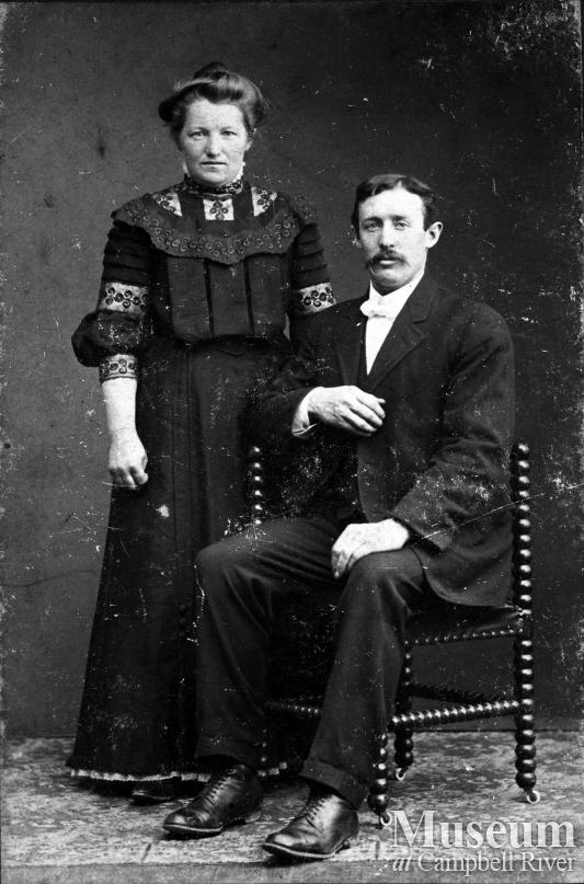 Christine and Morris Petersen, early Campbell River settlers