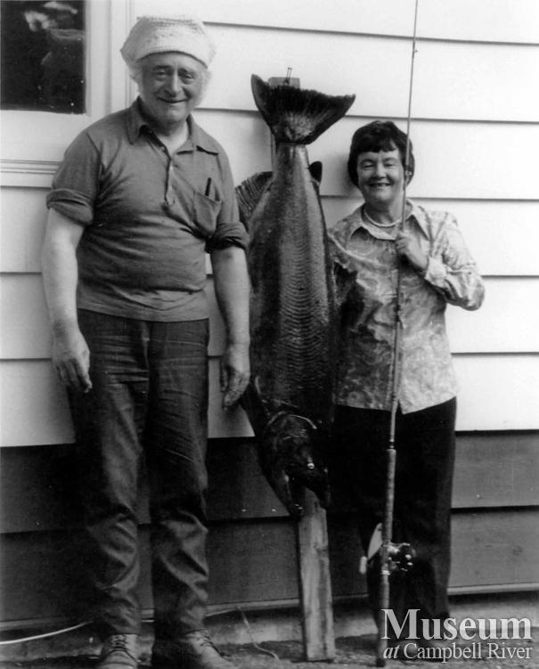Dr. Richard and Mary Murphy with their catch