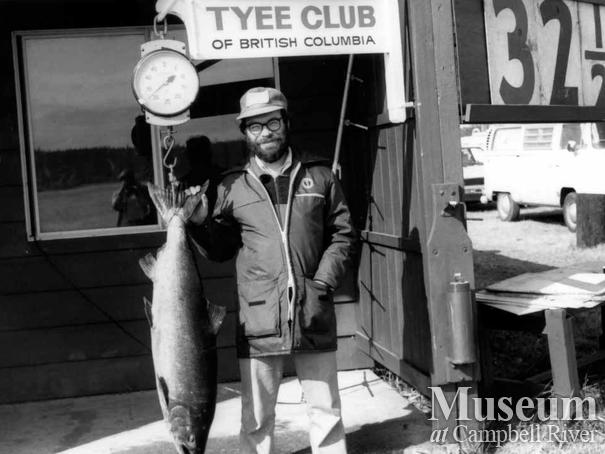 Quentin Dodd with his catch