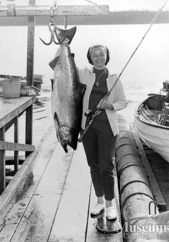 Mrs. Jane Fitzpatrick with her catch