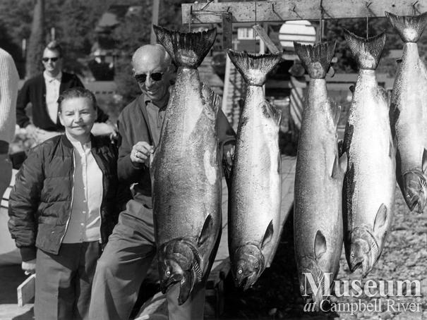 Mr. Bonnor with his catch of five fish