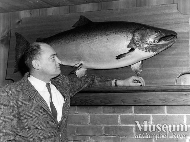 Corkey Corbett with mounted fish