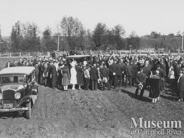 Funeral at Campbell River Cemetery