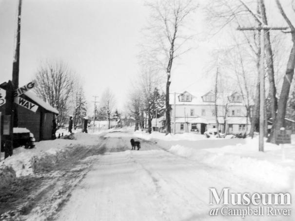 Campbellton after a snow storm, 1938