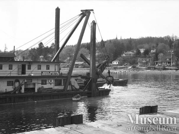 Dredging at Campbell River's government wharf