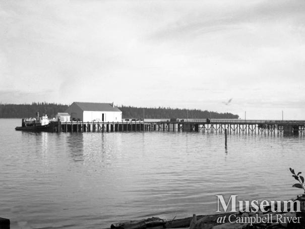 View of the new wharf, Campbell River