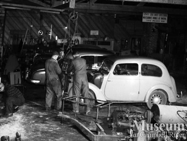Mechanics at work at Campbell River Garage Ltd