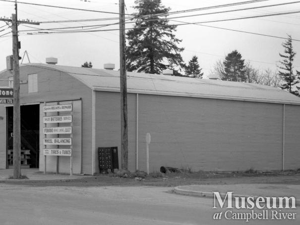 Bourne and Weir tire shop located in Campbellton