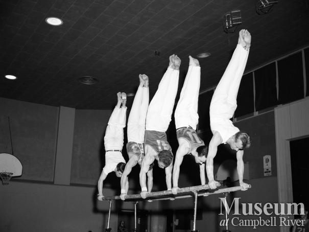 CR Recreation Association event Gym Circus, 1957