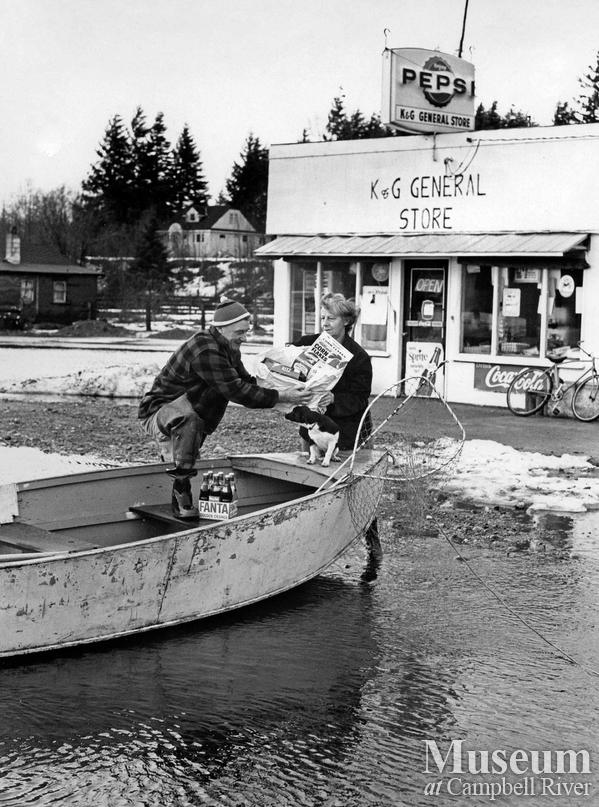 Flooding at the K AND G General Store