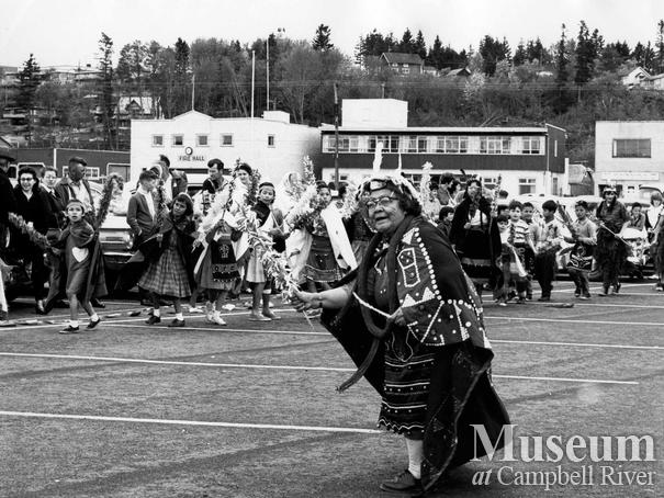 Members of the Campbell River Indian Band dancing