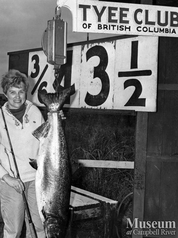 Mrs. Omar J. Noles with catch
