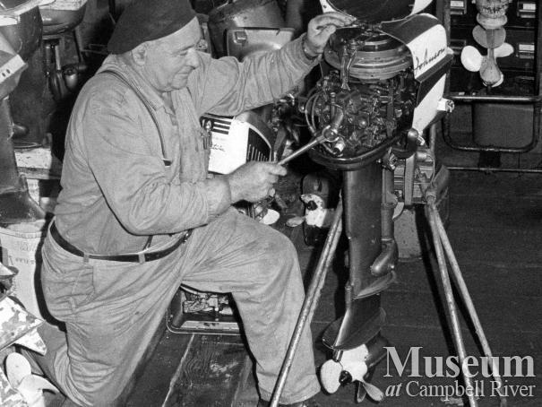 Ken Forde in his workshop