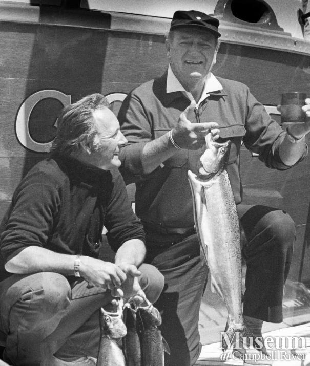 John Wayne in his boat, Wild Goose
