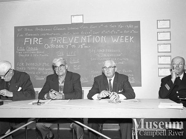 Fire Prevention Week meeting at Campbell River