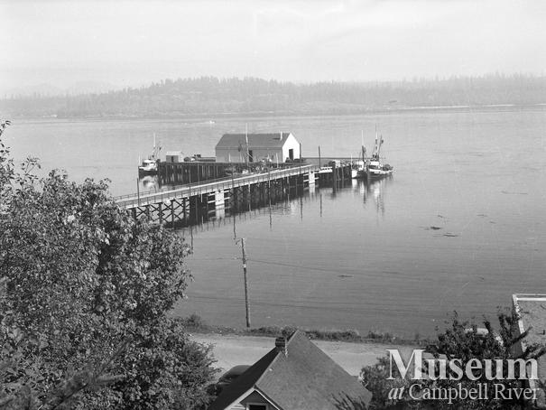 Campbell River Wharf and small boat harbour