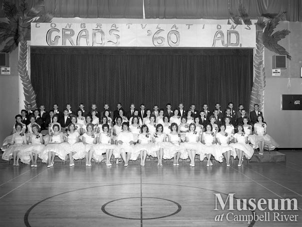 Campbell River Junior Senior High School graduation class of 1960