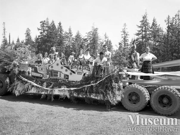 First Nations float in July 1st parade, Campbell River