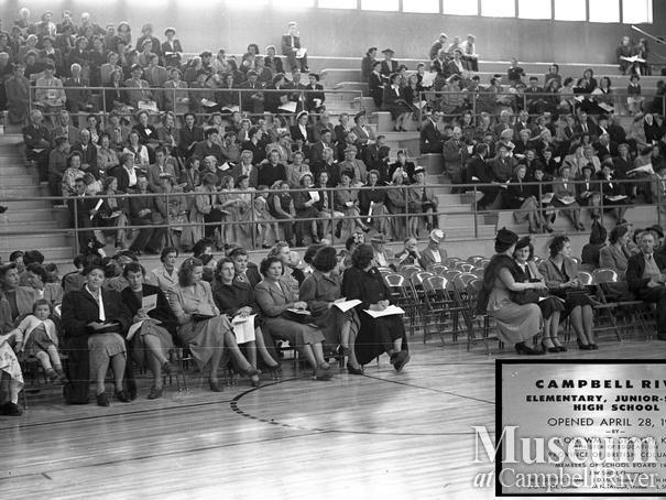 Opening of Campbell River Elementary, Junior-Senior High School