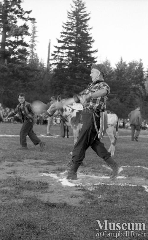 Donkey Baseball held at Lane Field, Campbell River