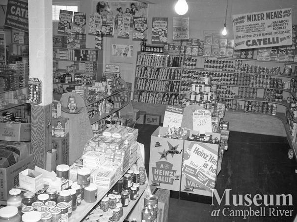Interior of Allan's General Store in Campbellton