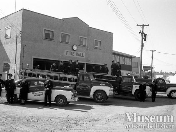 Campbell River Fire Department personnel and equipment