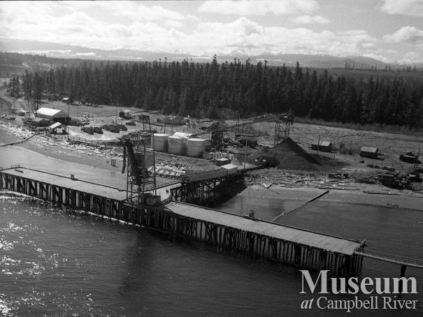 Aerial view of Tyee Spit