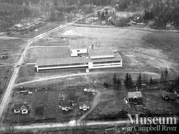 Aerial view of new Campbell River Junior Senior High School