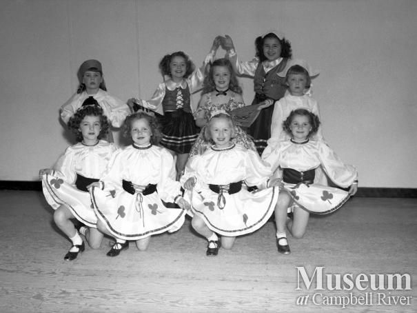 A group of students from Shurley Durham's dance school, Campbell River